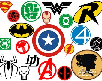 Superheroes SVG, Superhero eps, Superhero logo SVG, Superhero logo clipart, super hero svg, cameo files, svg files for cricut, dxf, vector