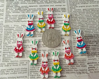 10 Bunny Buttons