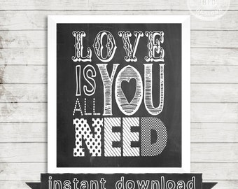 DIY PRINTABLE, Love , Quote, Family, Love Sign, Love Quote, Love Print, Chalkboard Print,Chalkboard Printable, Instant Download
