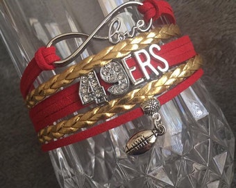 San Francisco 49ers bracelet! Free shipping in the US!