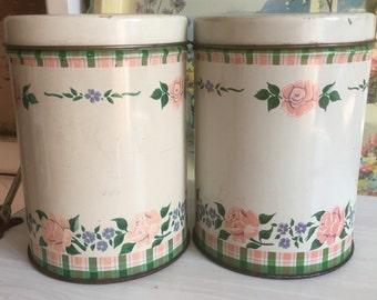 Pretty floral vintage tins