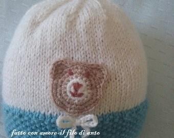 Wool Cap with Teddy bear