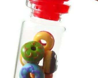 Miniature donut, miniature snack, mini donut, miniature clay sweet, polymer clay food, mini, dessert, dollhouse, tiny, mini snack