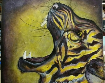 Purple and Gold Tiger