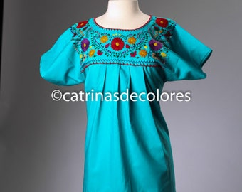 Authentic Mexican Hand Embroidered Floral Blouse