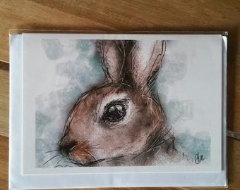 Greeting card - rabbit