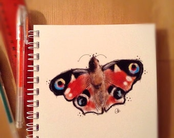 Butterfly notebook // butterfly sketchbook // butterfly gifts // butterfly wings // butterfly print // gifts for girls // pretty notebook