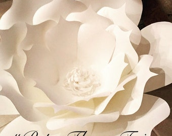 One Paper flower decor