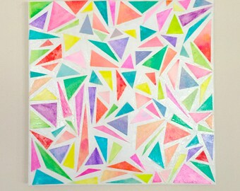 One-of-a-Kind Geometric Watercolor Art