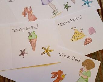 Handmade invitations X5