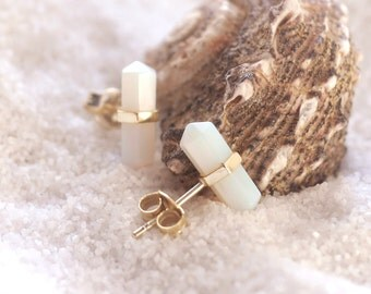 Moonstone Earrings | Moonstone Stud Earrings | Stud Earrings Gold | Bohemian Earrings | Boho Stud Earrings | Moonstone Crystal | Druzy Stud