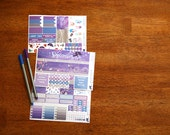 September Purple Rain Month in View Planner Sticker Set! | 152 Stickers! | Made to Fit in the Erin Condren Vertical and Hourly Planners