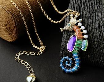 Chromatic Seahorse Necklace