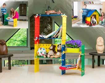 Modular toys  Biuilding bloks Wooden toys Educational toys Montessori toys Eco-friendly toys wooden blocks