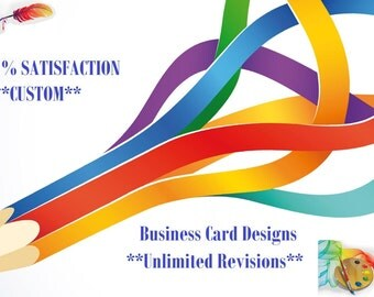 Business Branding Card Design Custom Made with Unlimited Revisions