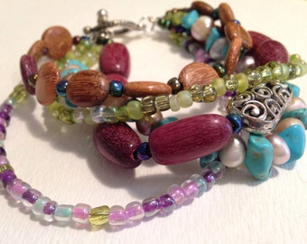 Mock-Stackable Multi-Strand Bracelet
