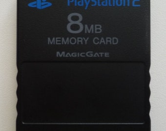 FMCB 1.953 / Genuine Sony PlayStation2 8MB Memory Card with Free Mcboot 1.953