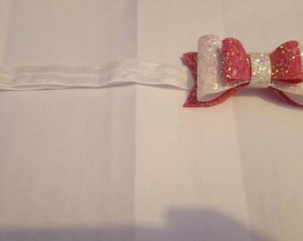 Triple layer bow headband