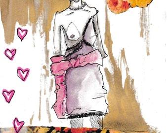 Kate moss fashion illustration