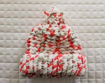 Multicolor Knit Baby Hat