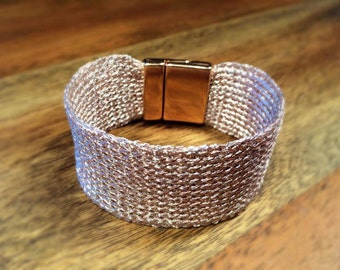 Knitted Wire Bracelet