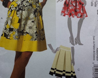 McCalls 5591 Pleated Skirt Sewing Pattern 14-22