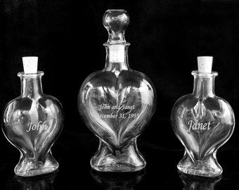 Engraved Sand Art Bottles Set