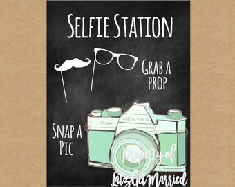 Instant Download: Printable Wedding Selfie Station Sign