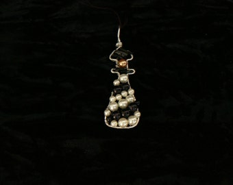 beaded lighthouse pendant
