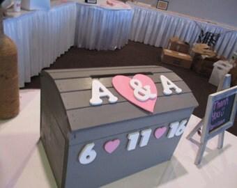Wooden Wedding Card Box Chest