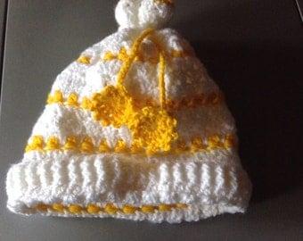 Pretty white yellow girl Hat