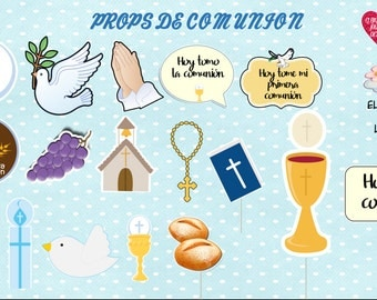 props photo booth infant communion