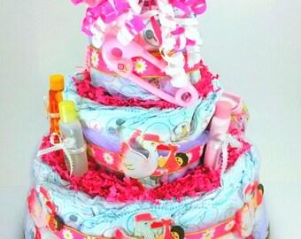 New baby girl baby shower  diaper cake