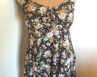 Vintage 90s Floral Mini Sundress