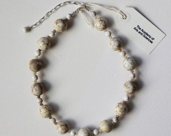 White Turquoise & Moonstone Necklace