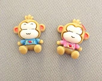 Monkey cabochons