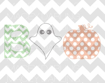 Boo SVG, Halloween SVG, Pumpkin Svg, Ghost SVG, Ghoul Svg, Happy Halloween Svg, Boo Cut File, Boo Dxf