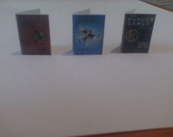 Dollhouse Miniature books The Hunger Games trilogy