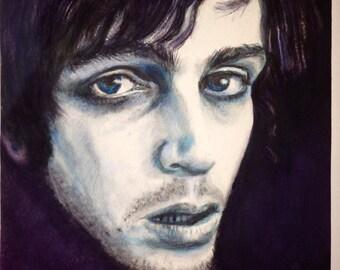 The Madcap Laughs watercolor painting portrait Syd Barrett