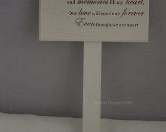 GRANDMA MEMORIAL STICK, Graveside memoriel Marker Tribute   F0898J