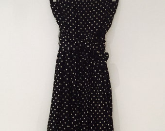 BCBG Maxazria silk, polka dot, sleeveless dress