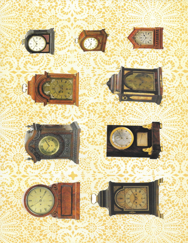 CLOCK Antique COLLAGE Sheet Vintage Clip Art Image Download
