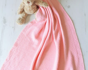 Cotton Knitted Baby Blanket Baby Wrap