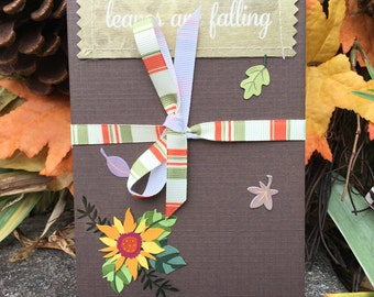 Leaves are Falling - Accordion Photo book - Photo Album - Fall Scrapbook - Brag book