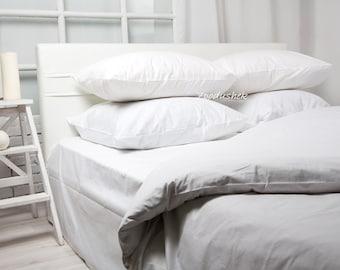 White bedding White duvet cover White Linen Duvet Cover Set 100% cotton White bed sheet White duvet cover twin full queen king SEAMLESS