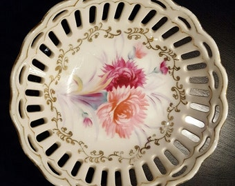 Vintage Occupied Japan Reticulated Dish
