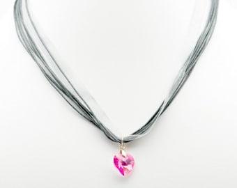 Organza Grey Necklace