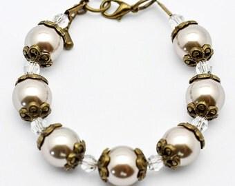 Antique Inspired Fresh Water Pearl Bracelet