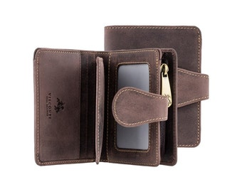 Visconti wallet - Bow - Oiled BROWN Leather