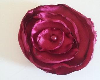 Beautiful Maroon will flower headband!